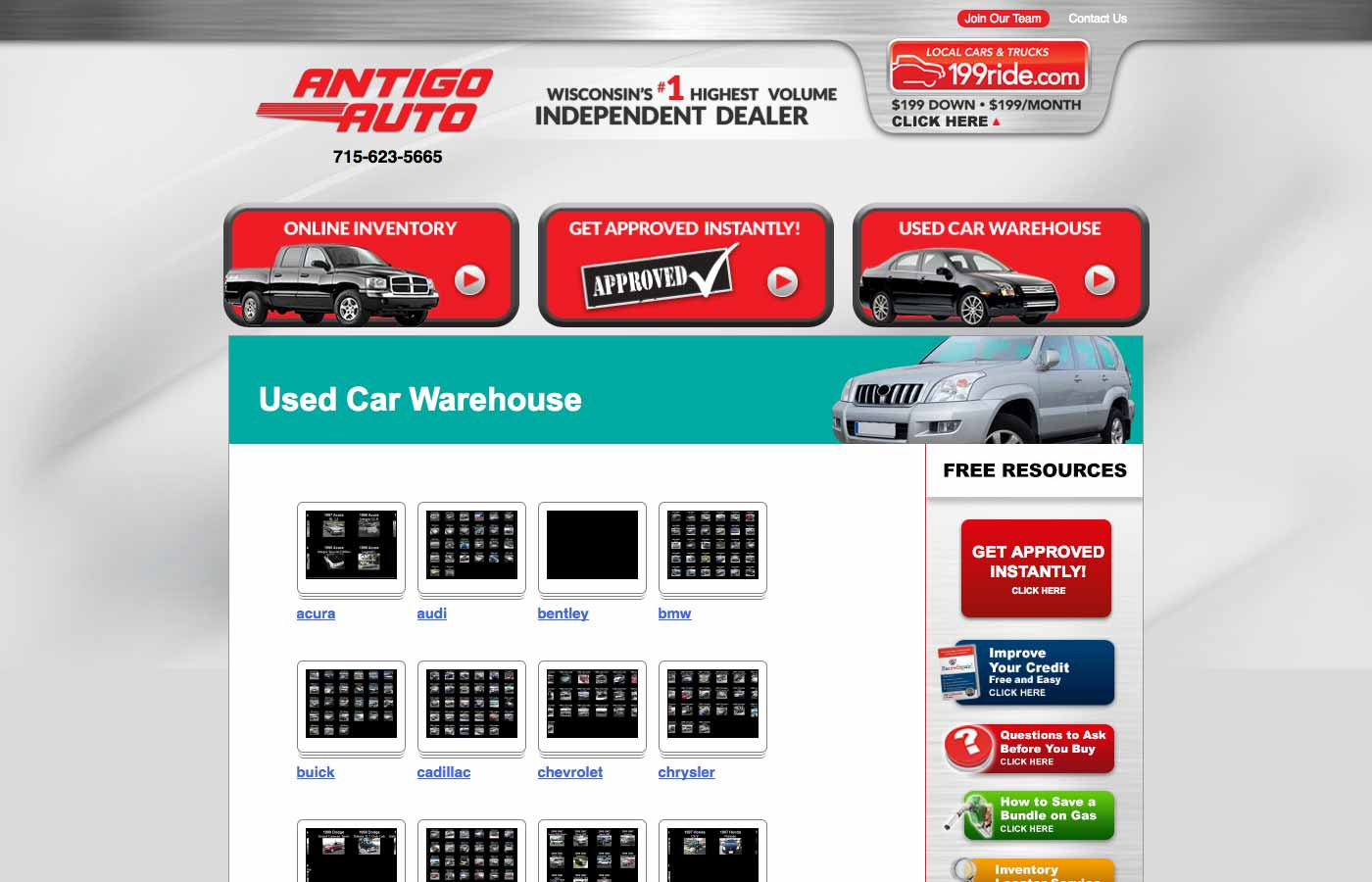 antigo auto used car warehouse